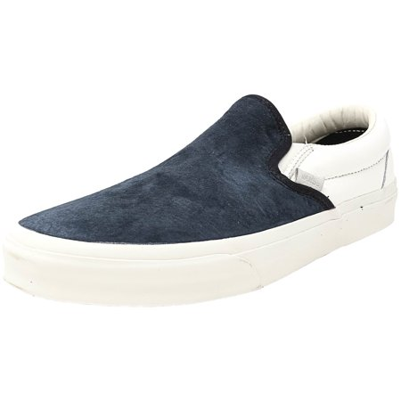 cff8b544ba Vans - Vans Men s Classic Slip-On Ca Scotchgard Blue Graphite Ankle-High  Canvas Fashion Sneaker - 11M - Walmart.com