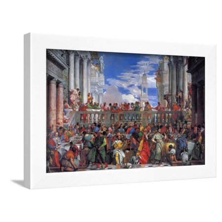 The Wedding Feast at Cana, 1563 Framed Print Wall Art By Paolo (Paolo Exterior Wall)