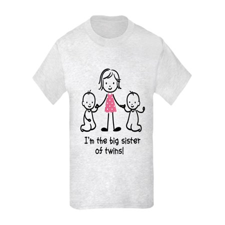 Girl's Big Sister of Twins Graphic Tee
