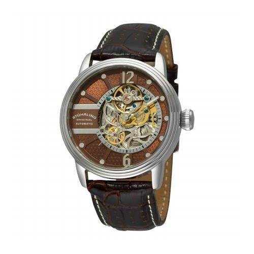 Stuhrling Prospero Classic 308A.3315K59 44mm Automatic Stainless Steel Case Brown Calfskin krysterna Men's Watch