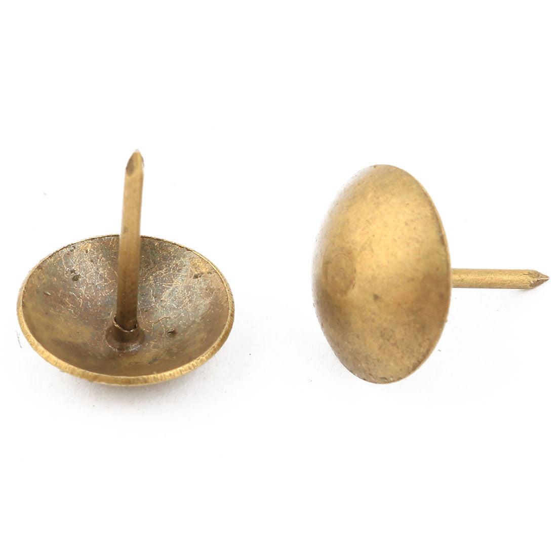 Home  Metal Furniture Tack Nail Text Pushpin Bronze Tone 16 x 13mm 50pcs - image 2 de 3