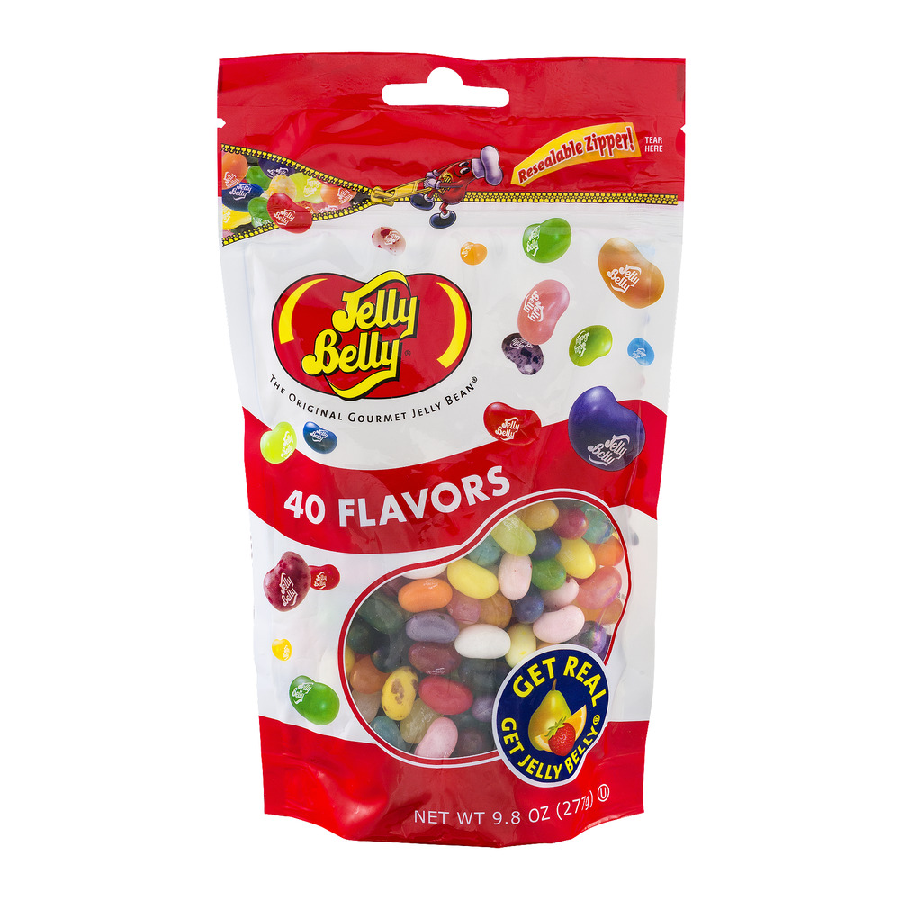 Jelly Belly, 40 Assorted Flavors Jelly Beans, 9.8 Oz