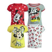 Disney Minnie Mouse Baby Girls 4 Pack Short Sleeve Graphic T-Shirt 24 Months