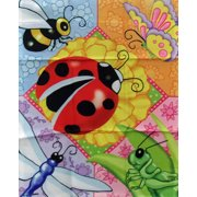 """Bugs Spring Garden Flag Ladybug Insects 11"""" x 15"""""""
