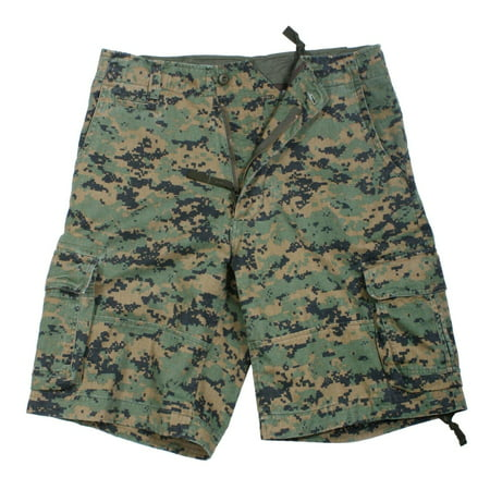 Rothco Vintage Infantry Utility Shorts, Woodland Digital Camo, Small
