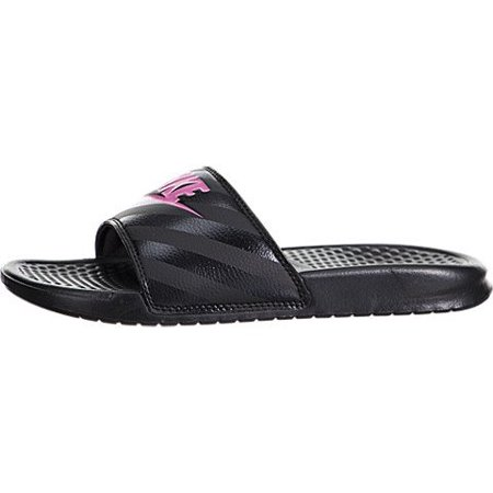 85a063c0eca Nike - Nike Women s Benassi JDI Slide Black Vivid Pink-Black Sandal ...