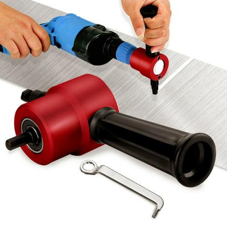 Double Head Nibble Metal Cutting Sheet Nibbler Saw Cutter Drill