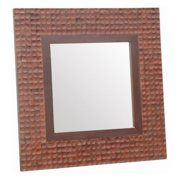 Jeffan New Hampton Square Mirror - Brown Bliss - 35.5W x 35.5H in.