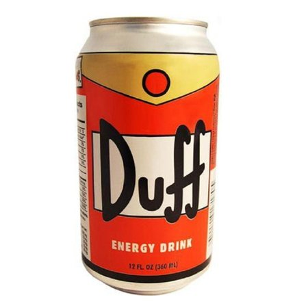Duff Can Energy Drink The Simpsons Beer Homer Simpson Moes Tavern