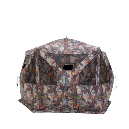 Camouflage Womens Blind (Barronett Blinds Pentagon Large Ground Hunting Hub Blind in Blood Trail Camo )