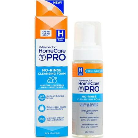 Welmedix HomeCare Pro No-Rinse Cleansing Foam 5 oz