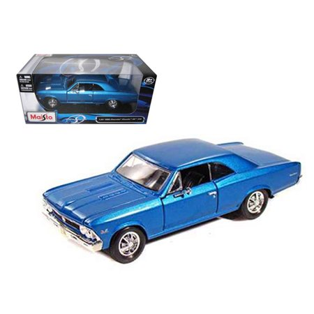 MAISTO 1:24 W/B - SPECIAL EDITION - 1966 CHEVROLET CHEVELLE SS 396 (BLUE METALLIC) 31960BL