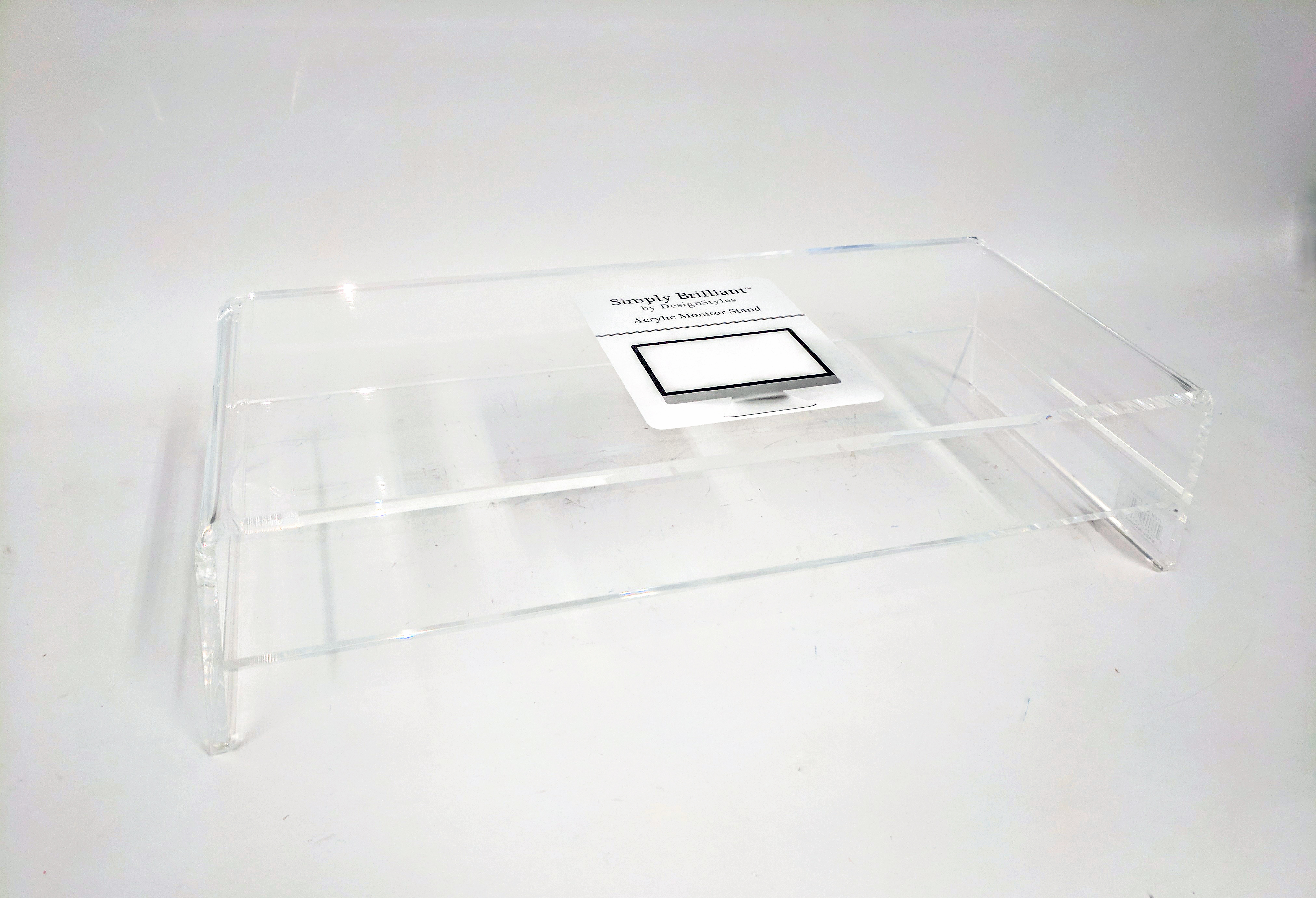 Designstyles Acrylic Laptop Stand Monitor Riser With Shelf