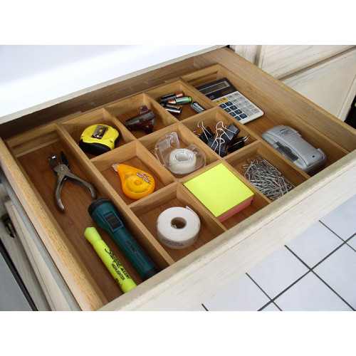 ***DISCONTINUED***Bamboo Expandable Drawer Organizer