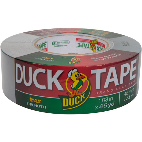 "Duck Brand Duct Tape, MAX Strength, 1.88"" x 45 yds"