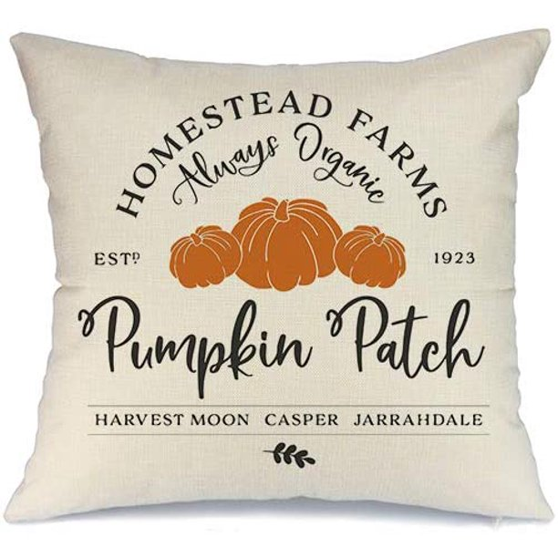 Popeven Fall Pumpkin Patch Truck Throw Pillow Cover Autumn Farmhouse Market Cushion Case Thanksgiving Day Decorative Pillow Covers For Living Room Bedroom Dorm Sofa Couch 18x18 Cotton Linen Walmart Com Walmart Com