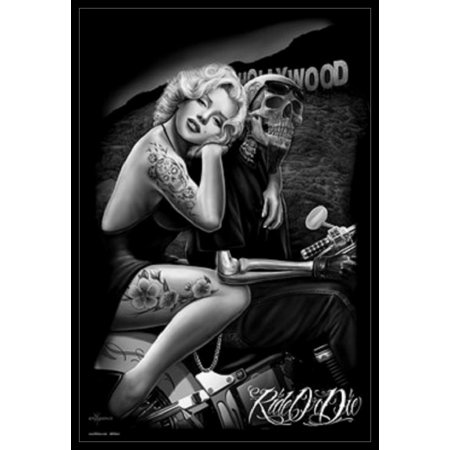 Marilyn Monroe Hollywood Tattoo Poster Poster Print - Marilyn Monroe Party Supplies