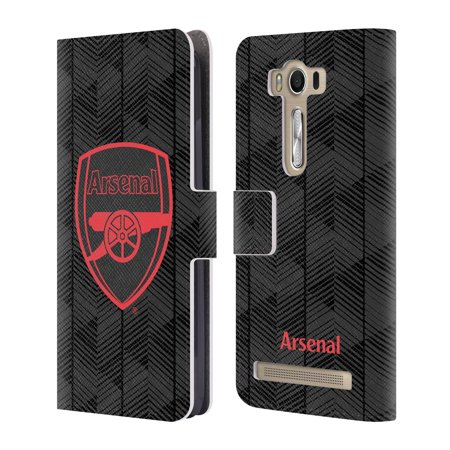 OFFICIAL ARSENAL FC 2018/19 CREST AND GUNNERS LOGO LEATHER BOOK WALLET CASE COVER FOR ASUS ZENFONE PHONES