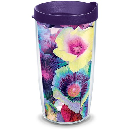 Multicolor Floral 16 oz Tumbler with lid ()