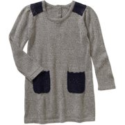 Toddler Girls' Grey A-Line Sweater Dress