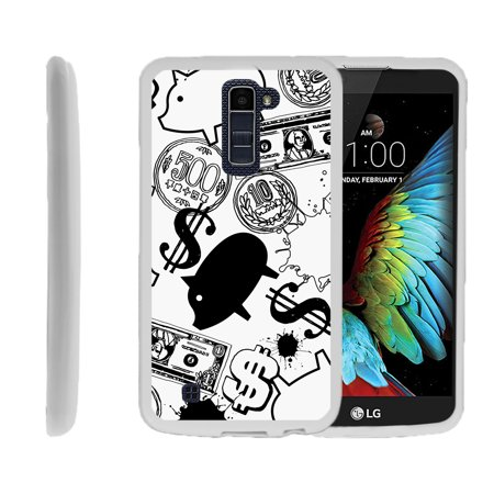Lg K10  Lg Premier Lte  K430  Flexible Case  Flex Force  Slim Durable Tpu Sleek Bumper With Unique Designs   Piggy Bank Money