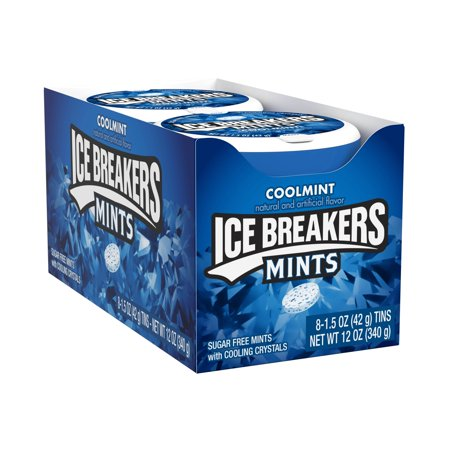 Ice Breakers, Sugar Free Coolmint Breath Mints, 1.5 Oz, 8 Ct
