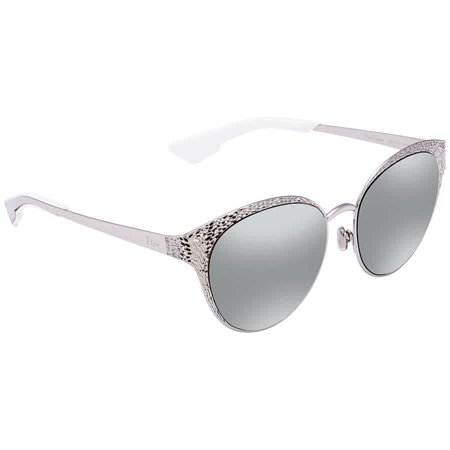 Dior Unique Grey Mirror Square Ladies Sunglasses DIORUNIQUE 010/KP (Sun Glasses Dior)