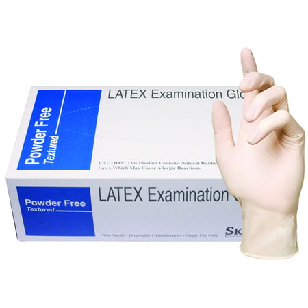 Skintx Medical Grade Latex Disposable Gloves, 90015-L-BX, (Pack of 100)](Halloween Crafts Gloves Latex Plastic)