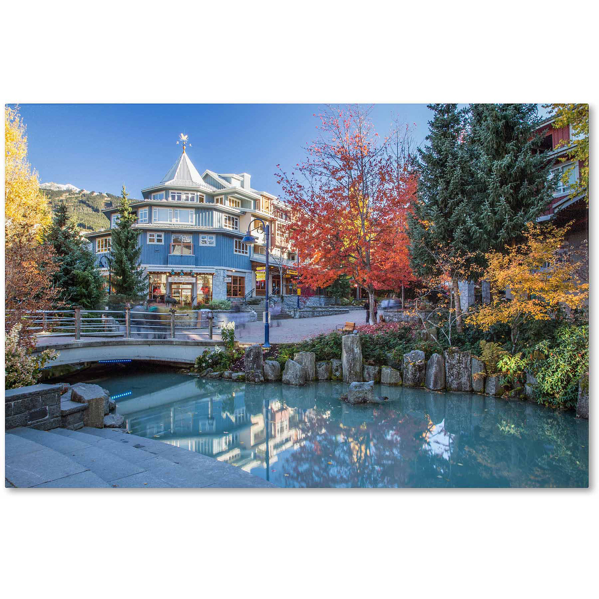 "Trademark Fine Art ""Whistler Plaza Autumn"" Canvas Art by Pierre Leclerc"