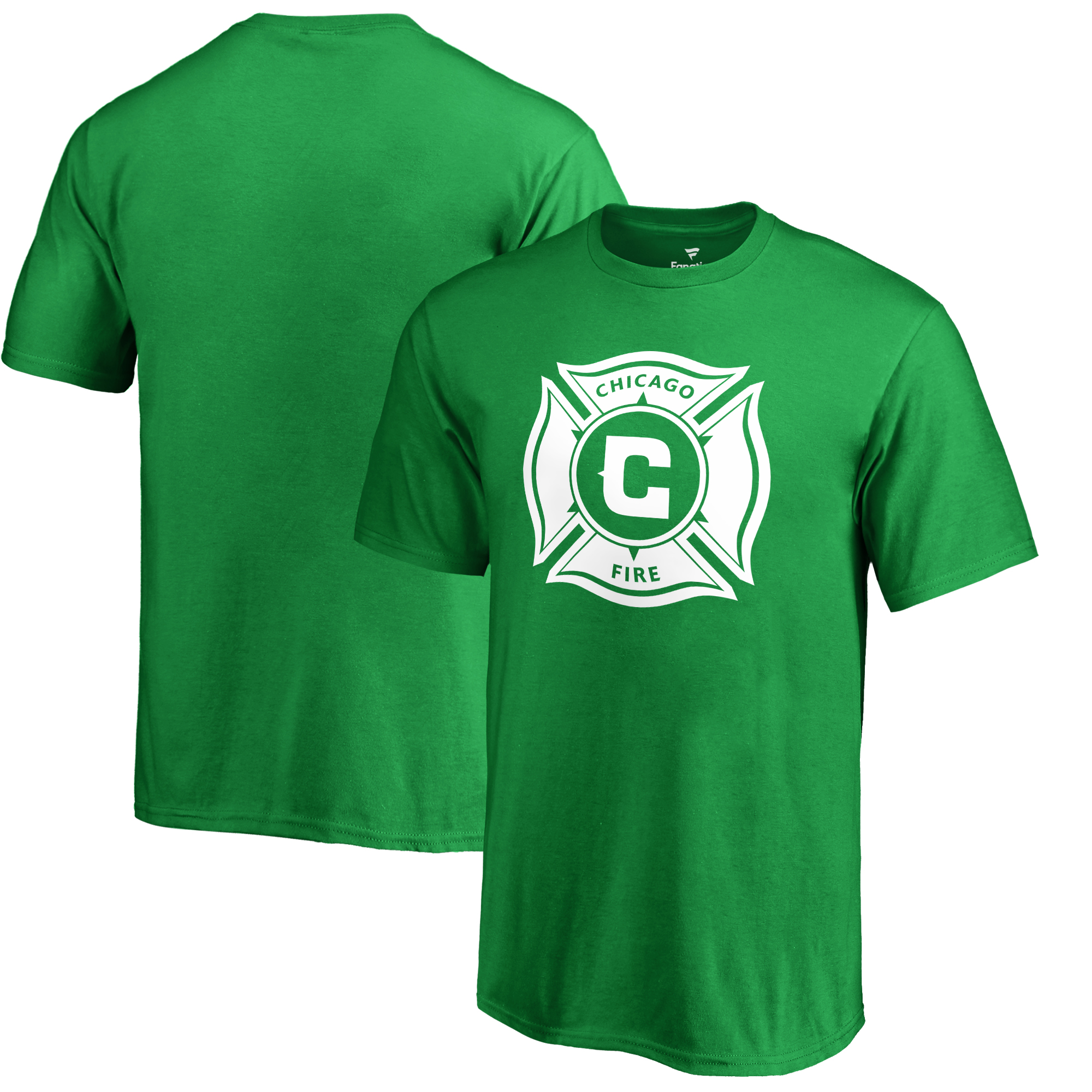 Chicago Fire Fanatics Branded Youth St. Patrick's Day White Logo T-Shirt - Kelly Green