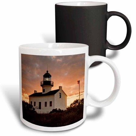 3dRose California, San Diego, Old Point Loma Lighthouse - Magic Transforming Mug,