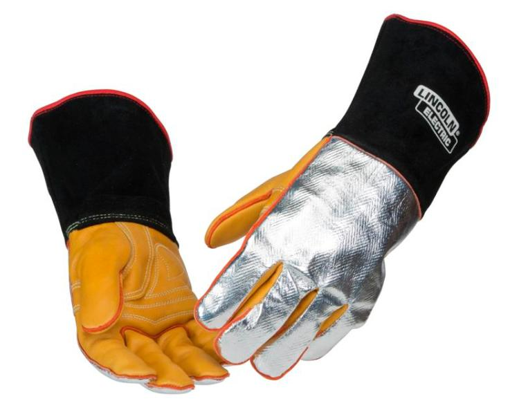 Lincoln Electric K2982 Top Grain Cowhide Aluminized Welding Gloves, X-Large by Lincoln Electric