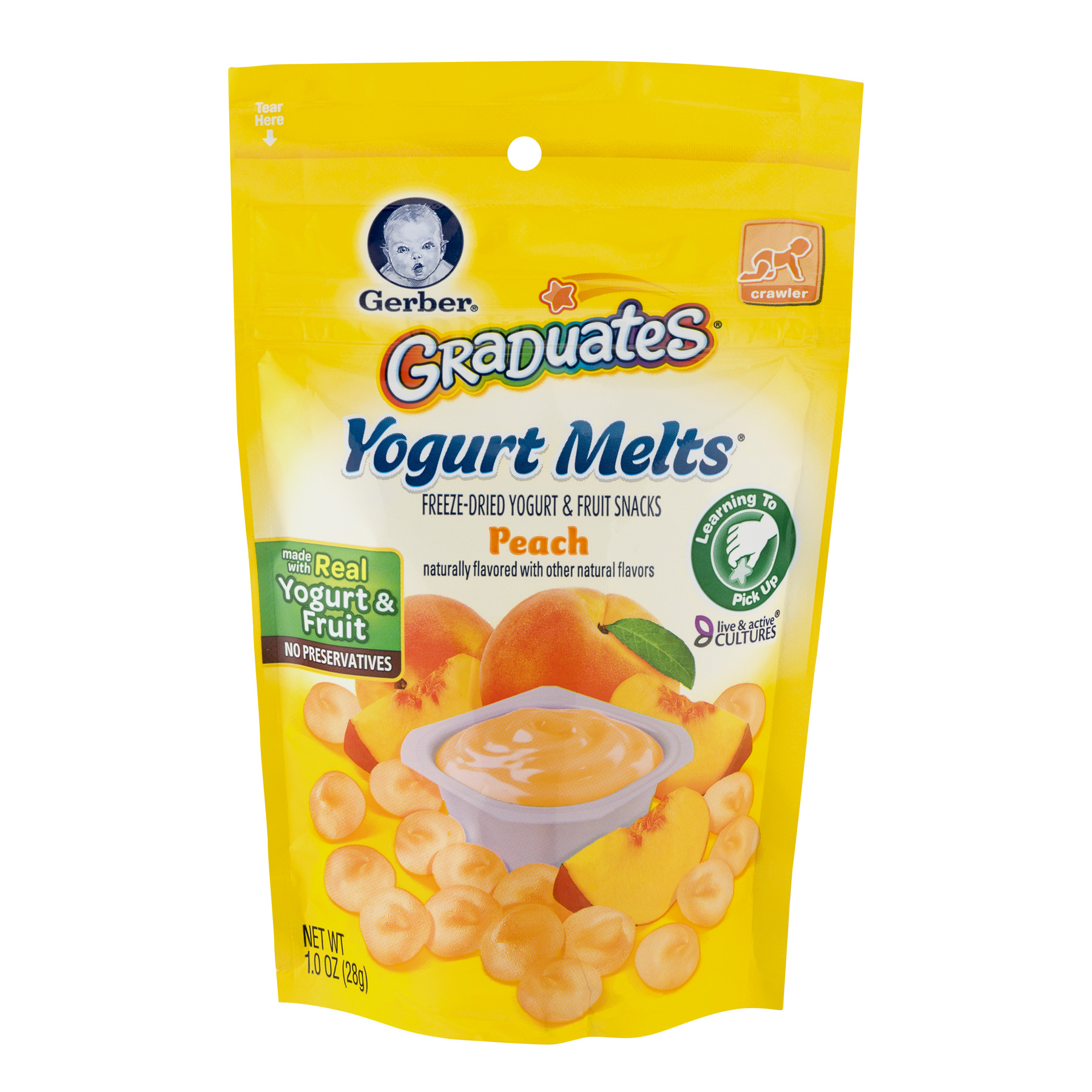 Gerber Graduates Yogurt Melts Peach, 1.0 OZ