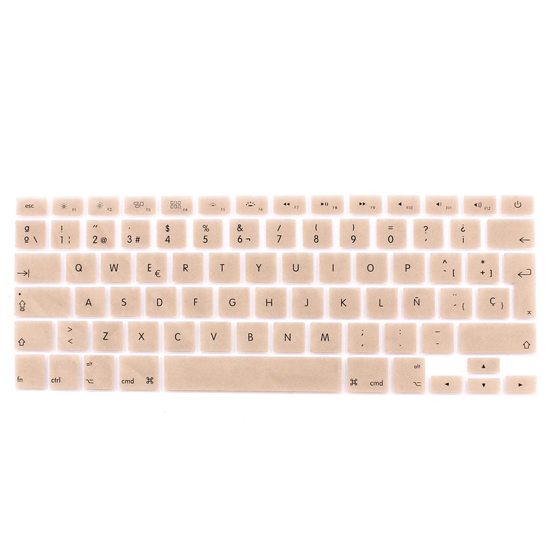 Spanish Keyboard Skin Cover Gold Tone for Apple Macbook Air 13 15 17  EU