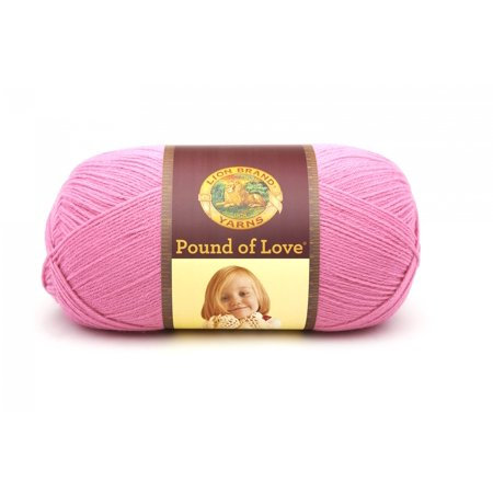 8969e7bdddcf Lion Brand Yarn Pound of Love Bubble Gum 550-102 Baby Yarn - Walmart.com