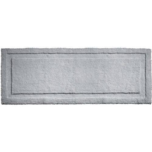 "InterDesign Microfiber Spa Non-Slip Long Bathroom Rug, 60"" x 21"", White"