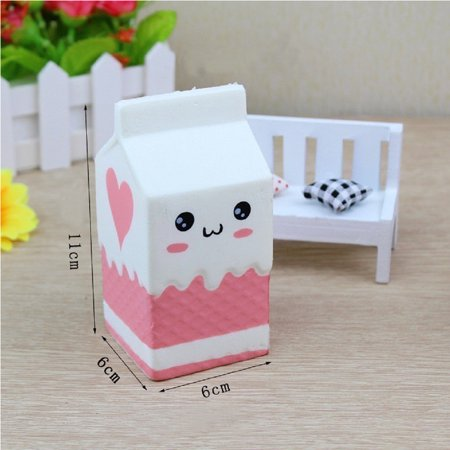 Cute Slow Rising Milk Bag Toys Soft Squishy Milk Box Stress Anxiety Reducer Creative PU Vent Toy - image 2 de 6