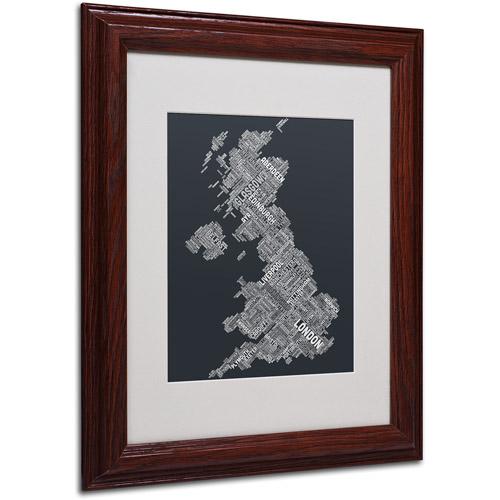 """Trademark Fine Art """"United Kingdom V"""" Matted Framed Art by Michael Tompsett, Wood Frame"""