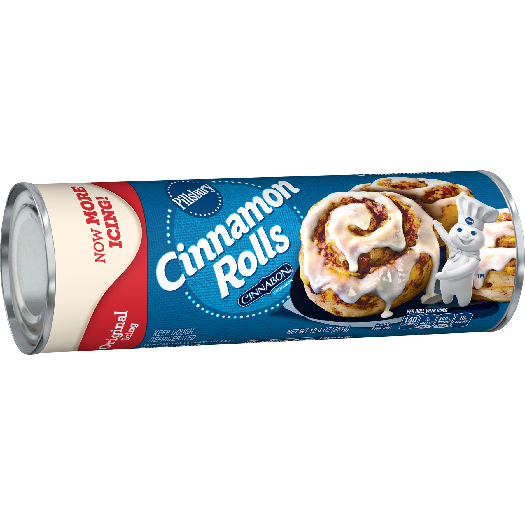 Pillsbury Cinnamon Rolls With Icing 8 Ct, 12.4 oz