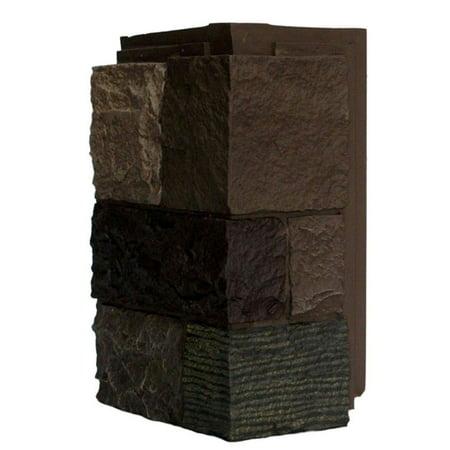 NextStone™ Faux Polyurethane Stone Outside Corner - Castle Rock Tuscan Brown (Tuscan Rock)