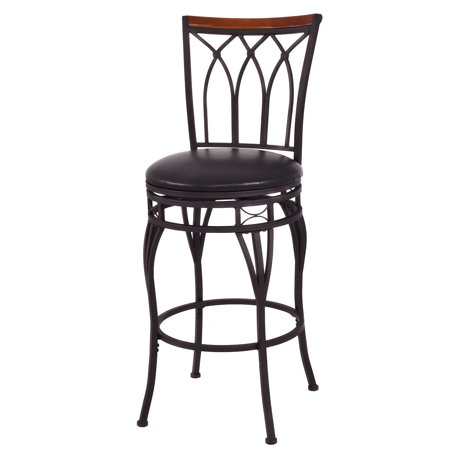 Costway Vintage Swivel Bar Stool 24'' 28'' Height Adjustable Padded Seat Bistro Pub Chair](24 Chair)