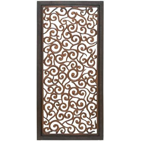 34092 Elegant Wall Sculpture - Wood Wall Panel