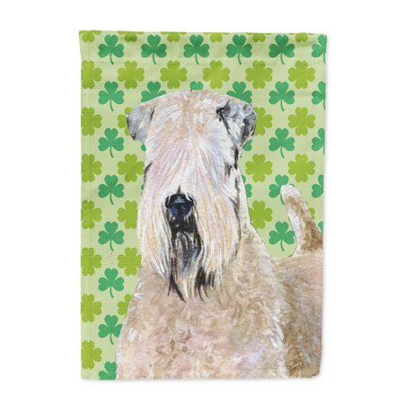 Wheaten Terrier Soft Coated St. Patrick's Day Shamrock Flag