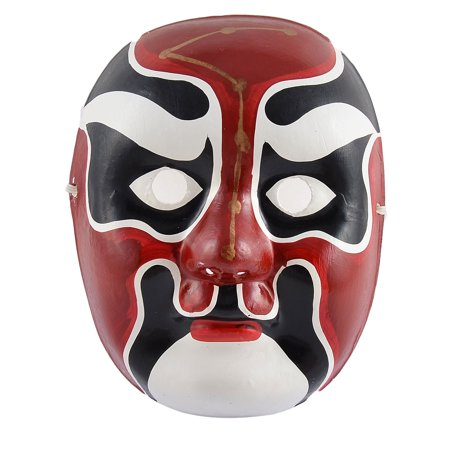 Halloween Party Plastic Chinese Culture Beijing Opera Costume Hand Painted Mask