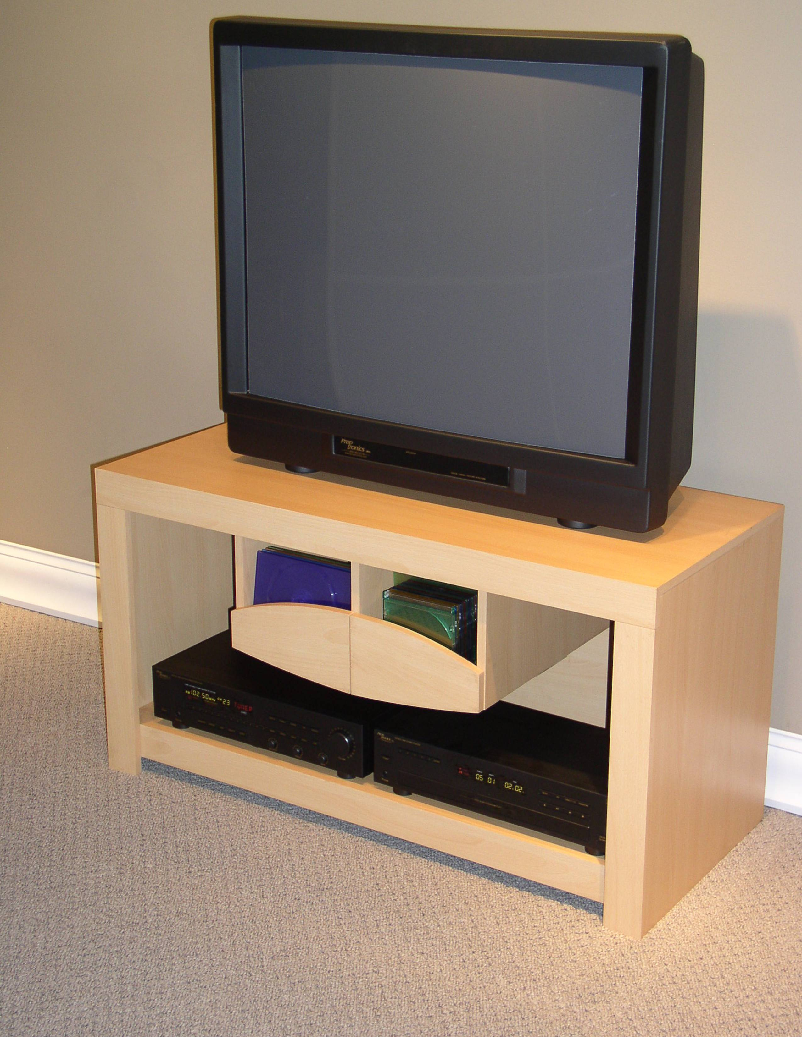 4D Concepts Large TV Stand Beech by 4D Concepts