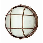 Trans Global Lighting PL-41515 RT Energy Efficient 1 Light Outdoor Round Bulk Head - Rust