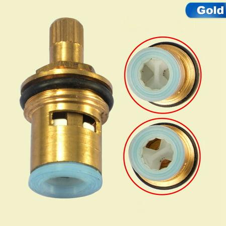 AkoaDa High Standard Ceramic Disc Faucet Cartridge Spout Brass Replacement Water Mixer Tap Inner Valve Core Quarter Turn Best