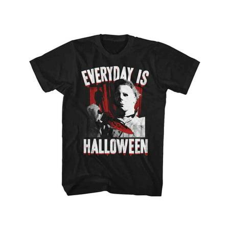 Halloween Everyday Black Adult T-Shirt Tee