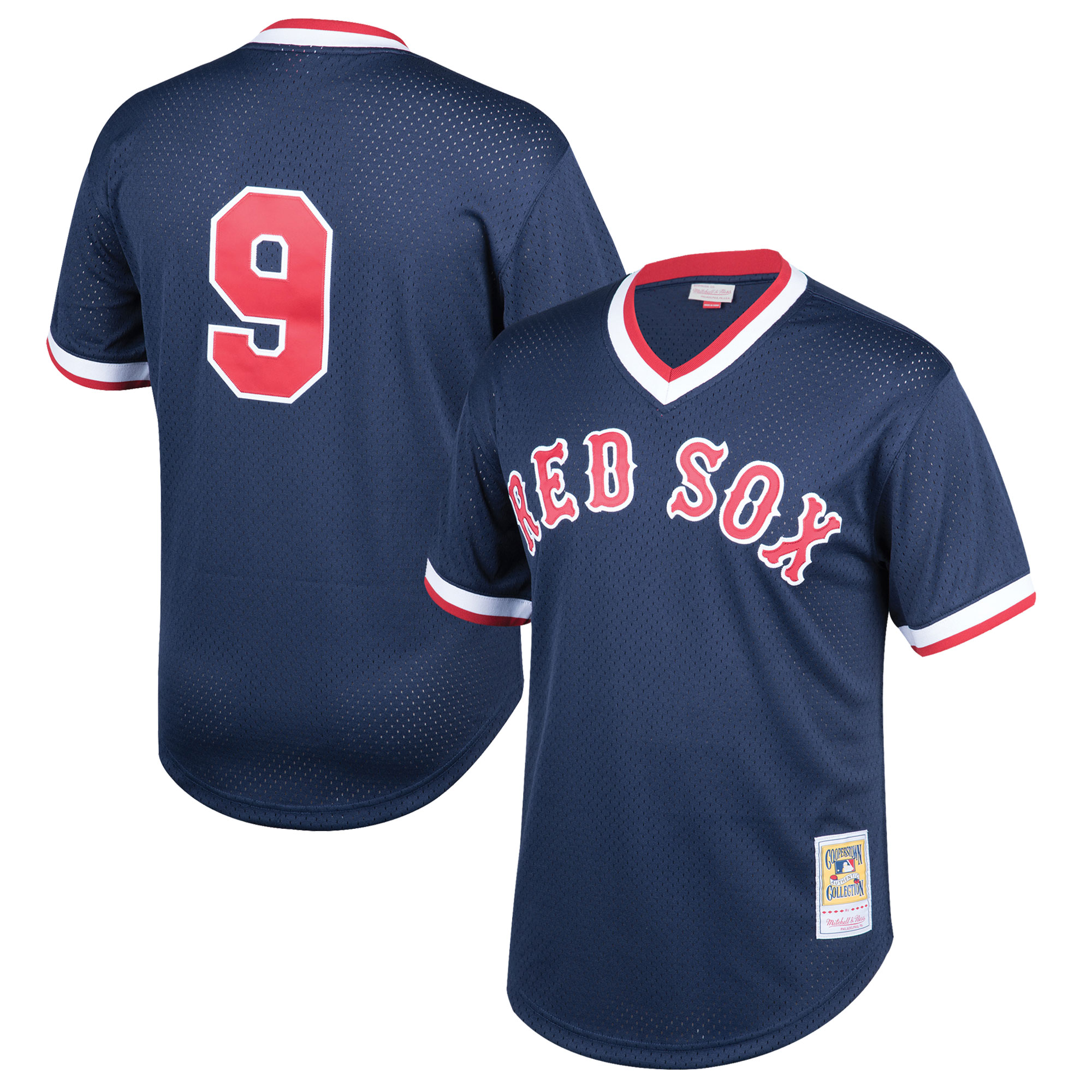 Ted Williams Boston Red Sox Mitchell & Ness Youth Cooperstown Collection Mesh Batting Practice Jersey - Navy