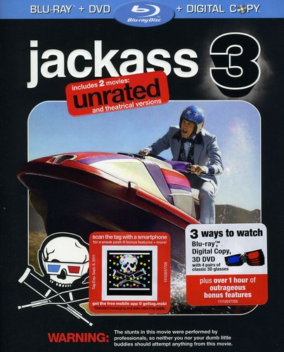 Jackass 3 (Unrated) (Blu-ray + DVD + Digital Copy) by PARAMOUNT HOME VIDEO